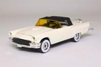 Corgi 801; 1957 Ford Thunderbird Closed Cabrio, White, Black