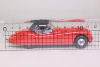 Corgi 803; Jaguar XK120 Roadster (1:36); Soft Top, Red, Black Hood