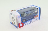 Burago #18-30000; Volkswagen New Beetle; Metallic Blue