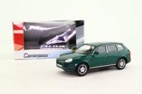 Cararama 02303; Porsche Cayenne S SUV; Dark Green Metallic