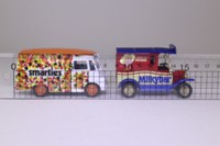 Days Gone Lledo NE1002; Nestles 2 Van Set; Morris LD; Smarties & Model T Ford; Milky Bar