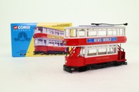 Corgi 98153; Double Deck Tram, Closed Top, Open Platform; London Transport; Ilford Broadway