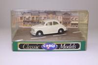 Corgi D702/7; Morris Minor Saloon; Ivory