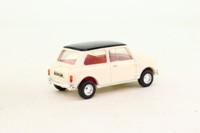 Dinky Toys DY-21; 1964 Austin Mini Cooper S; Cream, Black Roof