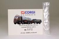 Corgi 27601; Atkinson; 8 Wheel Rigid Flatbed & Trailer, Sheeted Load; FB Atkins of Derby