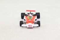Panini #72; McLaren M23 Formula 1; 1977 British GP 11th; Gilles Villeneuve; RN40