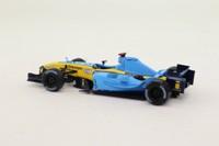 Panini #73; Renault R24 Formula 1; 2004 British GP DNF; Jarno Trulli; RN7