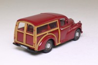 Corgi 02202; Morris Minor Traveller; Maroon, Tan Woodwork