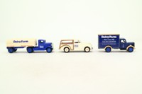 Days Gone Lledo 30001; Dairy Farm 3 Pce Set; Morris Minor Traveller, Bedford O Van, Ford Articulated Tanker