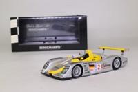 Minichamps 400 021392; Audi R8; 2002 12h Sebring 1st; Capello, Herbert, Pescatori; RN2