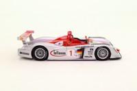 Minichamps 400 021391; Audi R8; 2002 12h Sebring 5th; Kristensen, Pirro, Biela; RN1