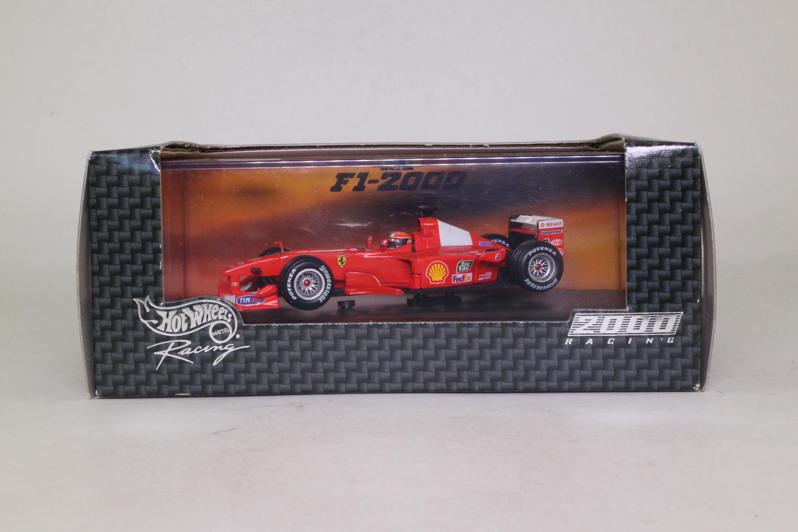 Hot Wheels 26748; Ferrari F1-2000 Formula 1; 2000 World Champion, Michael Scumacher; RN3