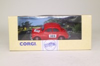 Corgi 96746; Morris Minor Saloon; Rally Trim, RN323, Red