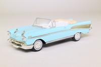 del Prado 52; 1957 Chevrolet Bel-Air Convertible; Open Top, Light Blue, White Seats