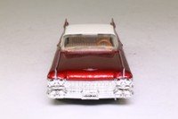 Dinky by Matchbox DY-7; 1959 Cadillac Coupe de Ville; Deep metallic red, white