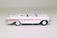Dickie 331 5618; 1958 Pontiac Bonneville; Open Convertible; White, Red Stripe