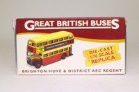 Atlas Editions 4 655 110; AEC Regent Double Decker Bus; Brighton & Hove District: Rt 42 Circular; Old Steine