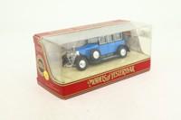Models of Yesteryear Y-36/1; 1925 Rolls-Royce Phantom 1; Blue, Black Chassis