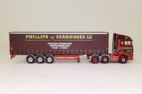 Corgi CC18202; Mercedes-Benz Actros (1:76); Curtainside, Phillips of Seahouses Ltd