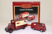 Corgi D46/1; British Railways 2 Van Set; Bedford O Van & Morris J Van