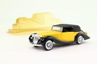 Solido 37; 1939 Delahaye 135M Figoni-Falaschi; Soft Top, Yellow/Black