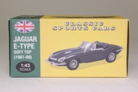 Atlas Editions 4 656 118; 1961 Jaguar E-Type Soft Top; Open Top, British Racing Green