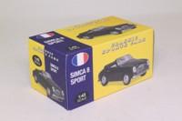 Atlas Editions 4 656 124; 1950 Simca 8 Sport Cabrio Pinifarina; Open, Black