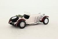 National Motor Museum Mint SS-48674; 1931 Mercedes-Benz SSKL; Open Top, Off-White, Maroon Mudguards