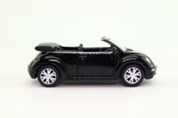 Kinsmart 27204; Volkswagen New Beetle; Open Convertible, Black