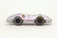 Dinky Toys 23e; Speed of the Wind Record Car; Silver, Black Hubs