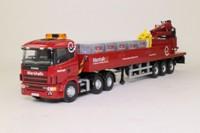 Corgi CC12219; Scania 4 Series; Artic Dropside & Crane, Marshalls Landscape Transformers