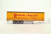 Corgi CC19906; Curtainside Trailer; Jack Richards & Sons Ltd, Fakenham