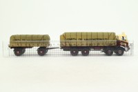 Corgi CC11505; AEC MkV Truck; 8 Wheel Rigid Flatbed & Trailer, Smith of Maddison, Sheeted Load