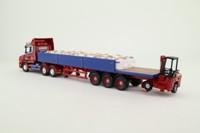 Corgi CC12824; Scania T-Cab; Artic Dropside w Moffett Mounty; Sand Bag Load; Larkins Logistics Ltd, Worcs