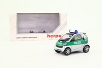 Herpa 070591; Smart City Coupe; Polizei Hambourg