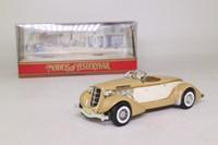 Models of Yesteryear Y-19/1; 1936 Auburn Speedster 851; Open Roadster, Tan & Cream