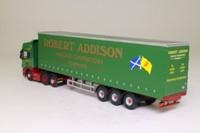 Oxford Diecast SCA09CS; Scania R Cab; Curtainside Trailer, Robert Addison, Torphins