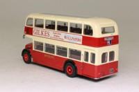 Corgi OOC OM40802; Bristol Lodekka FS Bus; Brighton & Hove: 46 Hollingbury; Gilkes/Britannic Advertising