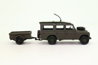 Solido 6039; Land Rover Series 3 109 Station Wagon; With Trailer; Military
