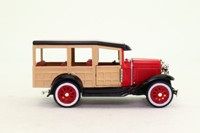 National Motor Museum Mint WOOD/02900; 1929 Ford Model A Woody Wagon; Red & Cream