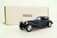 Franklin Mint B11RB69; 1930 Bugatti Royale Coupe Napoleon; Black, Blue Panels