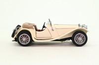 Franklin Mint; 1938 Jaguar SS; Open Top, Cream, Opening Doors & Bonnet