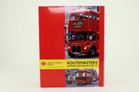 EFE 99924; London Transport Museum Set 10; AEC Routemaster Bus x2, Sovereign, 13 Aldwych, Stagecoach, 15 Blackwall Station