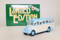 Corgi Classics 97107; Bedford OB Duple Vista Coach; Murgatroyd's Coaches, Summerbridge, Harrogate, Dest Otley