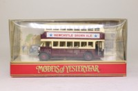 Models of Yesteryear Y-5/5; 1929 Leyland Titan Bus; City of Coventry, Earlsdon, Newcastle Brown Ale
