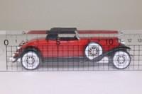 Solido 25; 1930 Duesenberg Model J Roadster; Soft Top, Red, Black Chassis