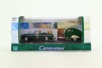 Cararama 00147; MGB; & Mini Caravan, Green