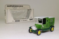 Models of Yesteryear Y-12/3; 1912 Ford Model T Van; 25 years of Models of Yesteryear; Green/Grey; fancy tampo rear doors