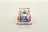 Matchbox/Lesney 56d; Hi Tailer; White, '5' Labels, Orange & Blue Stripes, Blue Driver