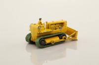Matchbox/Lesney 18b; Caterpillar Bulldozer (50mm); Bright Yellow Tractor, Bright Yellow Blade Held On Front Axle And Cast Pins, Cast Driver, Green Tracks